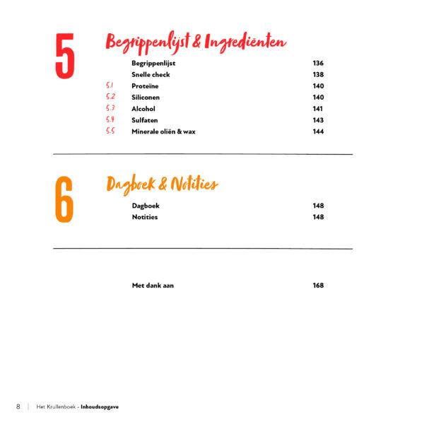 Krullenboek inhoudsopgave 3